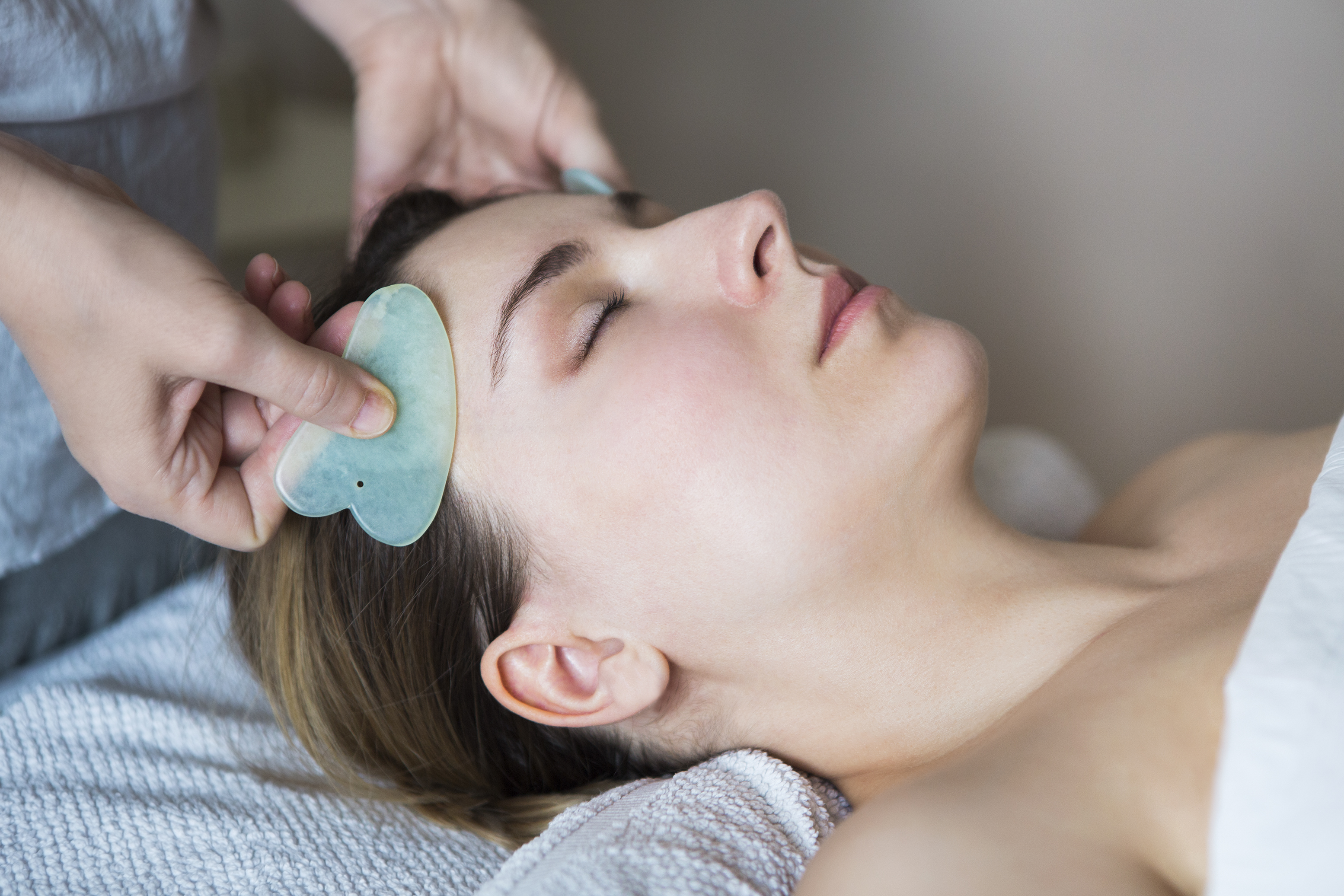 gua sha treatment - facial rejuvenation